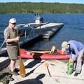 Trip begins at Lewis Lake boat ramp- Lewis Lake to Shoshone Lake Loop