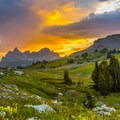 Sunrise at Death Canyon Shelf- Teton Crest Trail