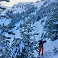 Following the well packed trail up from Mirror Lake- Tom Dick + Harry Mountain