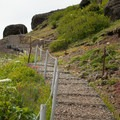 steep trail on wire fencing- Saddle Mountain