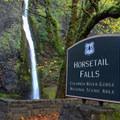 Horsetail Falls.- Horsetail, Ponytail + Triple Falls Hike
