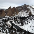 Smith Rock State Park.- Smith Rock, Misery Ridge Hiking Trail