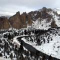 Smith Rock State Park.- Smith Rock, Misery Ridge Hiking Trail