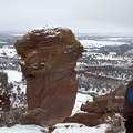 Enjoying the view from the Misery Ridge trail in Smith Rock State Park.- Smith Rock, Misery Ridge Hiking Trail
