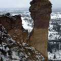 Monkey Face rock. - Smith Rock, Misery Ridge Hiking Trail