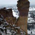 Monkey Face rock. - Smith Rock, Misery Ridge Hiking Trail