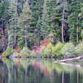 Suttle Lake in the fall.- Suttle Lake Loop