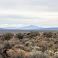 View from inside Fort Rock.- Fort Rock State Natural Area