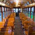 Inside the trolley.- Astoria Riverwalk Trail
