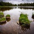 Long exposure of the pond below the lake- Ptarmigan Lake Trail