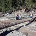 Krista crossin' the river!!!- Ramona Falls Hike