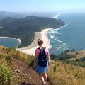 Krista and the Pacific Ocean...So Beautiful!!!- Cascade Head Hike