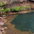 Lower falls pool- Lewis River Falls