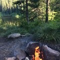 Campground view- Mirror Lake + Tom Dick and Harry Mountain