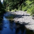 Looking downstream from the bridge- House Rock Campground