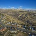 Aerial view up City Creek Canyon- City Creek Canyon Road Cycling