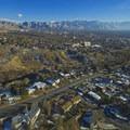 Aerial view down City Creek Canyon- City Creek Canyon Road Cycling
