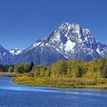 Mt Moran (12,605 ft) front and center. - Oxbow Bend