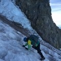 Definitely needed that ice ax!- Mount Hood South Route: Old Chute
