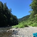 River bank.  Enjoy! - Sunstrip Campground