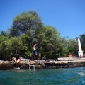 Captain Cook Monument from the water- Kealakekua Bay State Historical Park