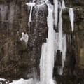 Ice falls forming. - Clifton Gorge State Nature Preserve