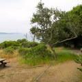 Ridge Campsite 5 provides a nice balance between views and wind protection- Ridge Camp
