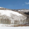 Looking across the lake- Willow Heights Snowshoe