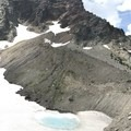 Cirque lake at base of Three Fingered Jack.- Canyon Creek Meadows