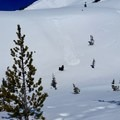 Spring weather starting to cause small cornice avalanches on the steeper slopes- Mount St. Helens Worm Flows Hike
