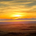 Sunset from White Rock Bay Campground- Antelope Island State Park