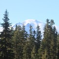 Stunning views of Mt. Baker across the alpine meadows.- Anderson + Watson Lakes