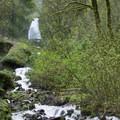The lower section of Wahkeena Falls.- Bridal Veil Falls, Oregon