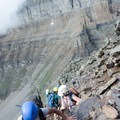 Getting to the steeper sectios- Mount Temple Scramble