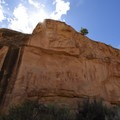 Barrier Canyon Style rock art- Sego Canyon