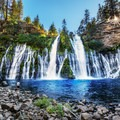Waiting for the sun to creep below the mountains.- McArthur-Burney Falls Memorial State Park