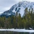 across Paulina Lake at Paulina Peak- Paulina Falls