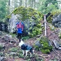 Giant boulder along the trail- Erma Bell Lakes