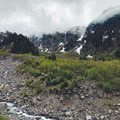 View of Sandy Glacier in the clouds- Muddy Fork