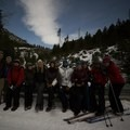 Some walked, some skied and we all had a great night adventure!- Tumalo Falls + Creek Hike