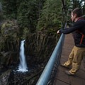 Taking in the view.- Drift Creek Falls Hike