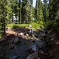 River crossing just before the PCT.- Jefferson Park via Whitewater Creek Trail
