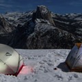 Headlamps optional when camping under the full moon.- Glacier Point Cross-Country Ski