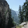 A slight break in the climbing before reaching the top of Nevada Falls.- Half Dome Hike via John Muir Trail