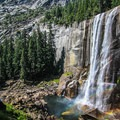 It is highly recommend that you opt for Mist Trail at least one way. Just look at this waterfall!T- Half Dome Hike via John Muir Trail