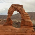 Even in the desert, evening storms can roll in quickly and weather can be unpredictable.- Delicate Arch