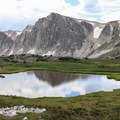 Fantastic views on the Medicine Bow Peak descent traveling clockwise.- Medicine Bow Peak Loop