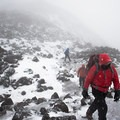 Blizzard conditions kept visibility low even in late-September.- Mount St. Helens Hike: Monitor Ridge Route