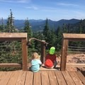 Viewing platform at the top is the perfect spot to keep kids safe during snack time- Iron Mountain