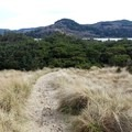 Looking back over the spit to the bay- Nehalem Jetty Trail